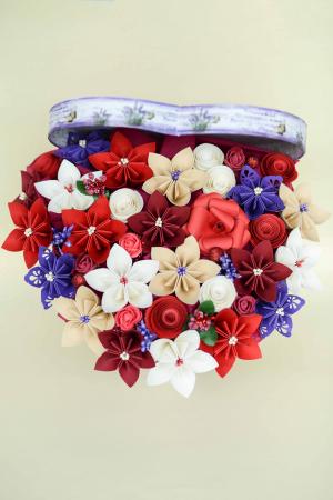 Cutie Inimă - Flori hârtie3