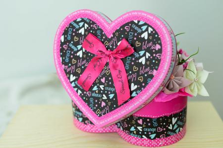 Cutie Inimă - Flori hârtie [2]
