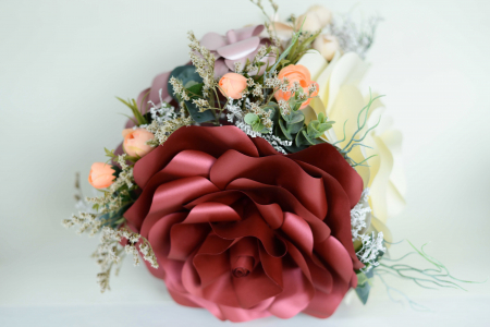 Decor masă - Vază - Flori gigant1