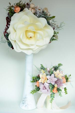 Decor masă - Vază - Flori gigant2
