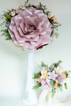 Decor masă - Vază - Flori gigant0