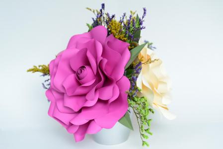 Decor masă - Ghiveci - Flori gigant1