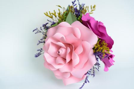 Decor masă - Ghiveci - Flori gigant2