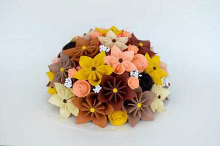 Decor masă - Semisferă flori hârtie9