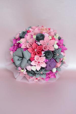 Decor masă - Semisferă flori hârtie/flori uscate [13]