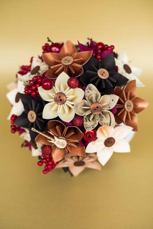 Decorațiune - Ghiveci flori hârtie2