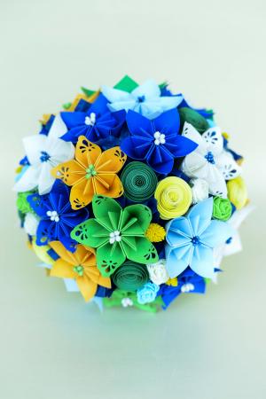 Decorațiune - Ghiveci flori hârtie [3]