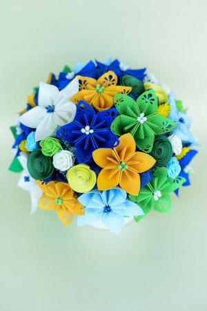 Decorațiune - Ghiveci flori hârtie [2]