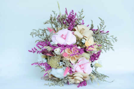 Decorațiune Vază - flori hârtie1