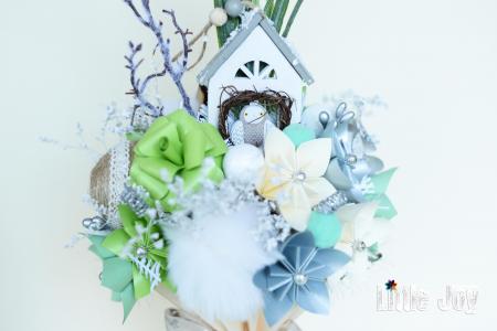Decorațiune Crăciun - Argintiu/Fistic1