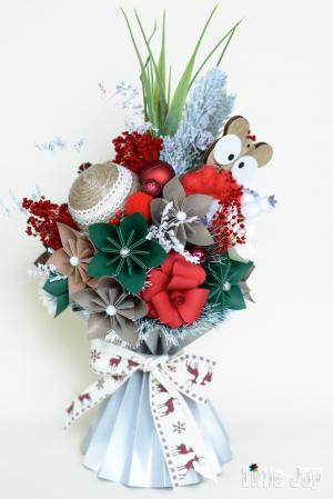 Decorațiune Crăciun - Argintiu/Roșu0