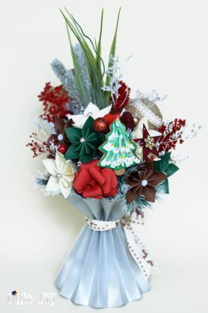 Decorațiune Crăciun - Argintiu/Roșu2