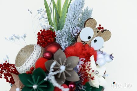 Decorațiune Crăciun - Argintiu/Roșu1