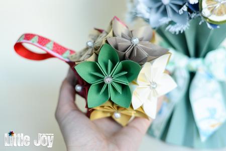 Glob Crăciun - Flori hârtie0