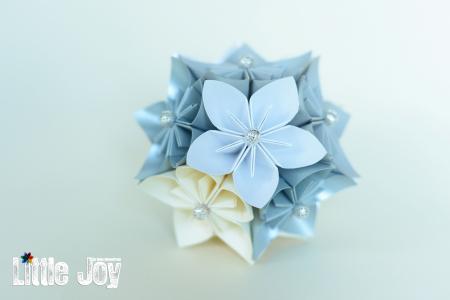 Glob Crăciun - Flori hârtie1
