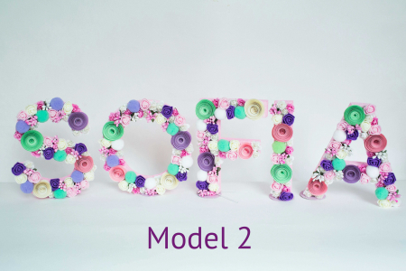 Litere decorate - Fetițe1