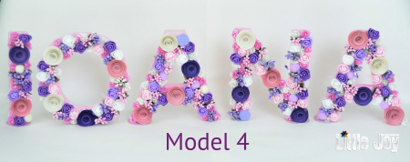Litere decorate - Fetițe3
