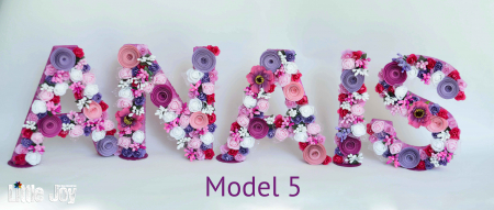 Litere decorate - Fetițe4