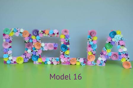 Litere decorate - Fetițe15