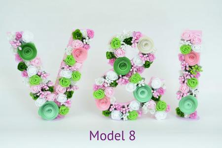 Litere decorate - Fetițe7