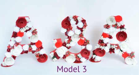 Litere decorate - Fetițe2