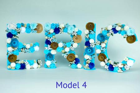 Litere decorate - Băieței3