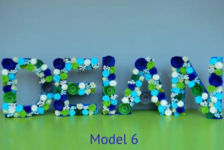 Litere decorate - Băieței5