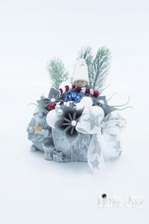 Decorațiune ghiveci ceramic Crăciun1