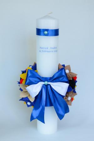 Lumânare botez personalizată - Fundiță1