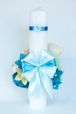 Lumânare botez personalizată - Fundiță2