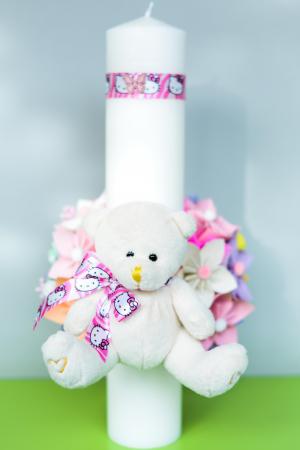 Lumânare botez personalizată - Ursuleț2