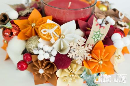 Lumânare Crăciun - Parfumată - Portocaliu1