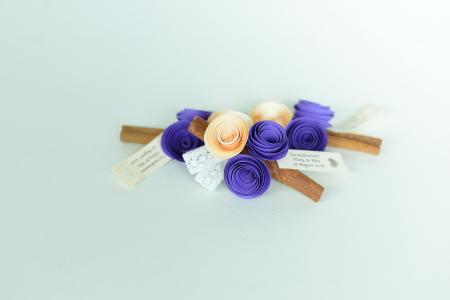 Mărturie - Băț scorțișoară flori hârtie1