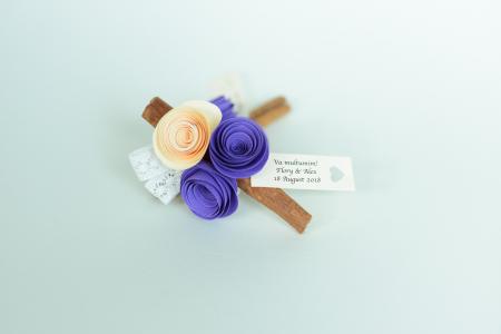 Mărturie - Băț scorțișoară flori hârtie0