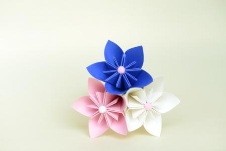 Mărturie - Buchețel flori hârtie2