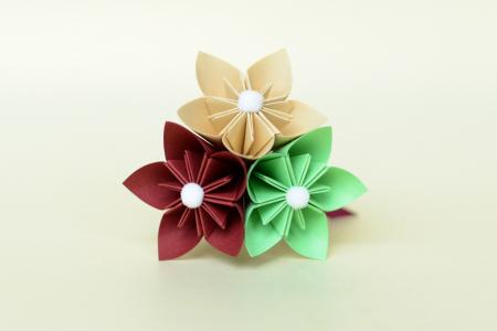 Mărturie - Sticluță flori hârtie1