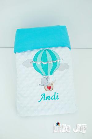 Păturică personalizată - Andi2