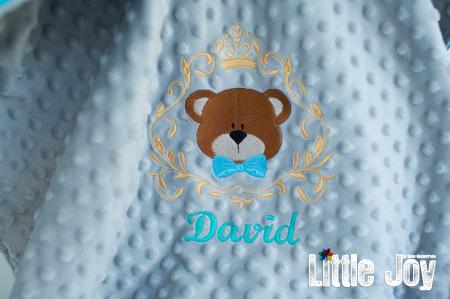 Păturică personalizată - David3