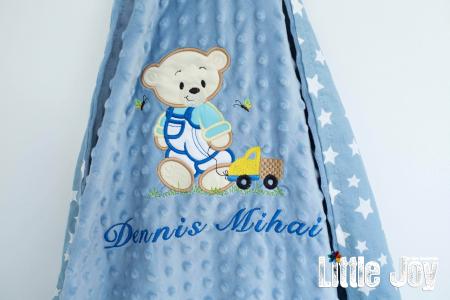 Păturică personalizată - Dennis2