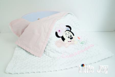 Păturică personalizată - Minnie roz pal [0]