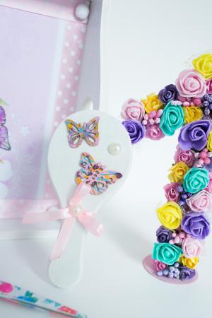 Set 1 An personalizat - Săndăluțe croșetate roz4