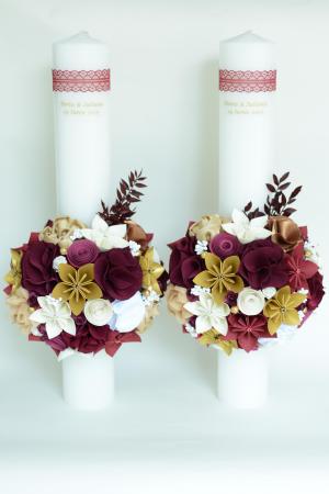Set lumânări cununie personalizate - 50 cm0