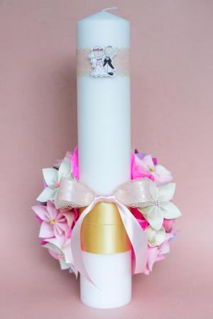Set lumânări cununie Roz2