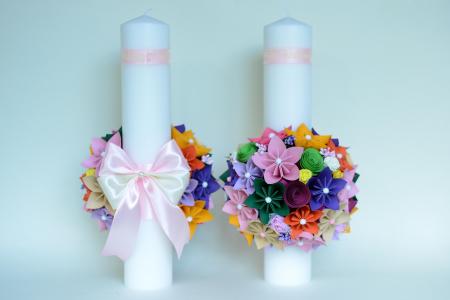 Set lumânări cununie Multicolor1
