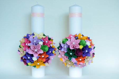 Set lumânări cununie Multicolor0
