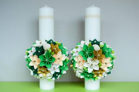 Set lumânări cununie Verde0