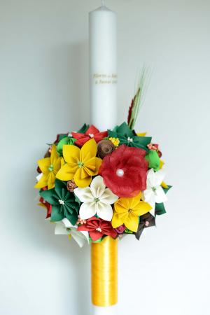 Set lumânări lungi cununie personalizate - 60 cm0