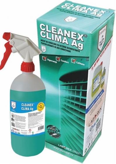CLEANEX CLIMA Argint - Agent de curatare cu actiune dezinfectanta pentru aparate de aer conditionat, CHEMSTAL, Pulverizator 1 kg, cod:LBXCLCL001 [0]