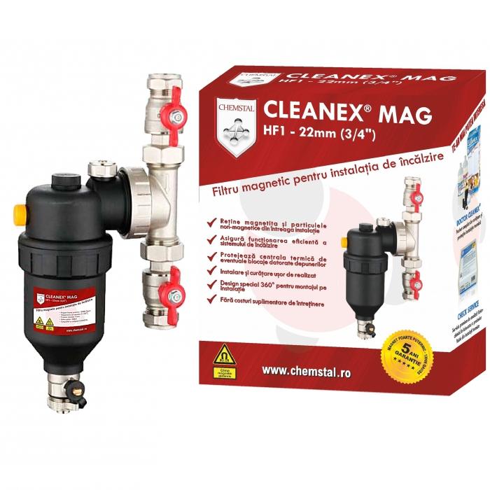 CLEANEX MAG HF1 3/4 (22MM) - Filtru antimagnetita instalatie termica, CHEMSTAL, cod: LBXFACM122 [0]