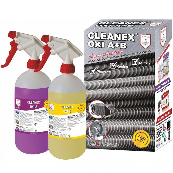 CLEANEX OXI A + B - Pachet curatare exterior schimbator centrala in condensare, CHEMSTAL, cod: LBXPKOS10 0